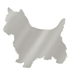 Mirrored Silver Pet Wall Art