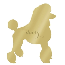 Personalized Mirrored Gold Pet Wall Art