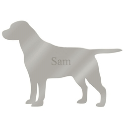Personalized  Mirrored Silver Pet Wall Art