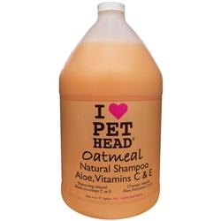 Pet Head Oatmeal Shampoo - 1 gal Natural Oatmeal w/pump