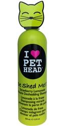Pet Head Cat De Shed Shampoo - 12 oz  Strawberry Lemon