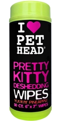 Pet Head Pretty Kitty Deshedding Wipes - 50 pk Pineapple