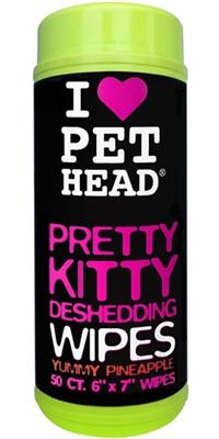 Pet Head Pretty Kitty Deshedding Wipes - 50 pk Pineapple