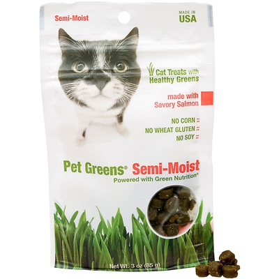 Bell Rock Growers Pet Greens Semi Moist Cat Treat Salmon 3oz
