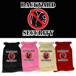 Back Yard Security Screen Print Shirt