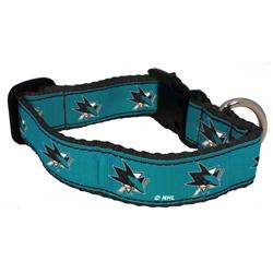 San Jose Sharks Dog Collar - Ribbon