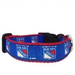 New York Rangers Dog Collar - Ribbon