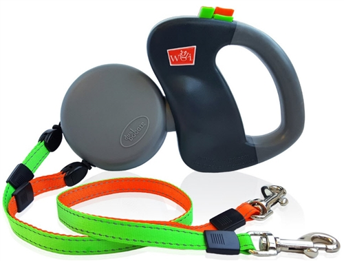 Dual Doggie Retractable Leash for Dogs up to 50lbs Each