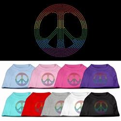Rhinestone Rainbow Pride and Peace Sign Shirts