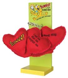 Yeow Ducky World Catnip Heart Display