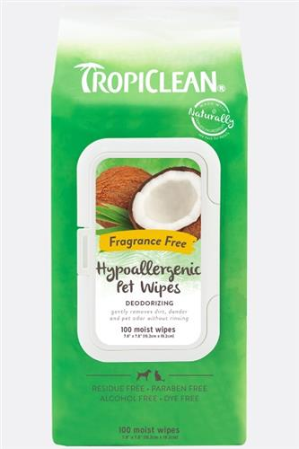 TropiClean Deodorizing Wipes for Pets