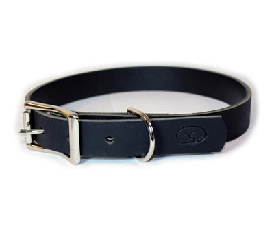 Black Thick Leather Dog Collar