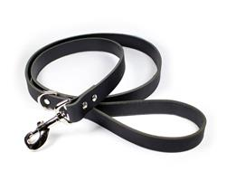 Thick Leather Dog Leash - Black