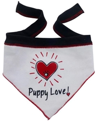 Puppy Love Hearthrob - Scarf - White
