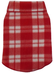 Valentine Plaid - Fleece Pullover - Red/White