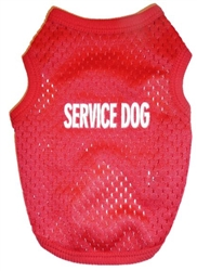 Service Dog Tank Red Mesh