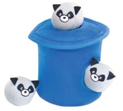 Zippy Paws - Zippy Burrow Bubble Babies Raccoons in Trash Can