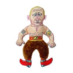 """Rootin' Tootin' Putin Cat Toy- 8"""" Presidential Parody"""