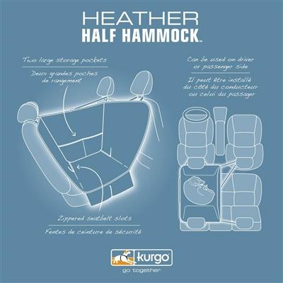 Kurgo Half Hammock - Heather Grey