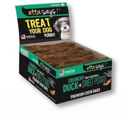Crunchy Premium Chew Bars - Duck & Sweet Potato - 12 per box