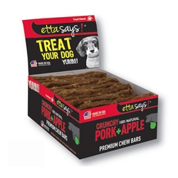 Crunchy Premium Chew Bars - Pork & Apple - 12 per box