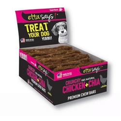 Crunchy Premium Chew Bars - Chicken & Chia - 12 per box