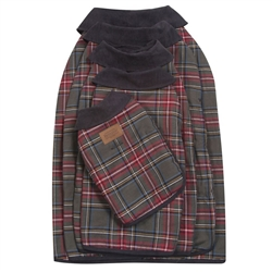 Grey Stewart Tartan Dog Coat