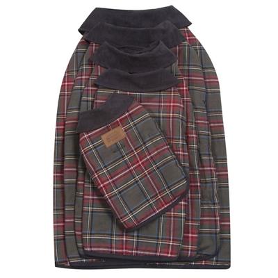 Grey Stewart Tartan Dog Coat