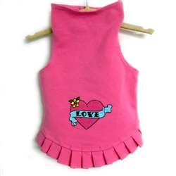 Valentine Love Dress with Pink Heart by Daisy and Lucy