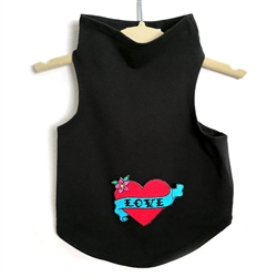 Valentine Love Tank with Red Heart by Daisy and Lucy