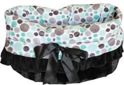 Aqua Party Dots Reversible Snuggle