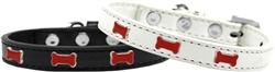 Red Bone Widget Dog Collar