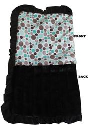 Luxurious Plush Pet Blanket Aqua Party Dots