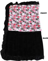 Luxurious Plush Pet Blanket Pink Party Dots