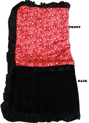 Luxurious Plush Pet Blanket Red Western