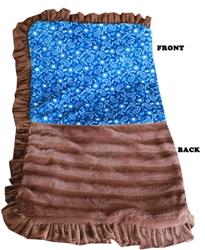 Luxurious Plush Pet Blanket Blue Western