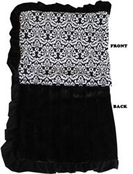 Luxurious Plush Pet Blanket Fancy Black
