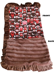 Luxurious Plush Pet Blanket Funky Monkey