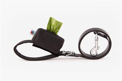 Black No-Dangle Poop Bag Dispenser