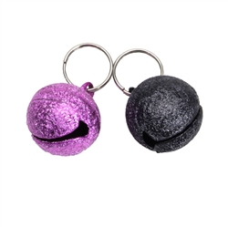 Round, Female Colors - Frosted Designer Cat Bells - 2 pack