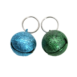 Round, Male Colors - Frosted Designer Cat Bells - 2 pack
