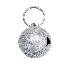 Silver Round Frosted Designer Cat Bells