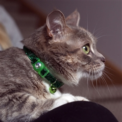 Safe Cat® Jeweled Buckle Adjustable Breakaway Collar with Glitter Overlay