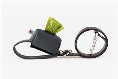 Charcoal No-Dangle Poop Bag Dispenser
