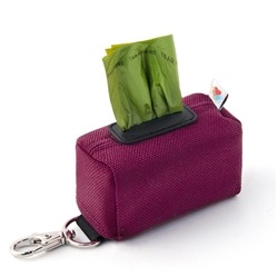 Maroon No-Dangle Poop Bag Dispenser