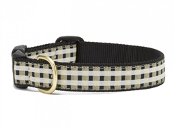 Black Gilt Check Dog Collar Collection
