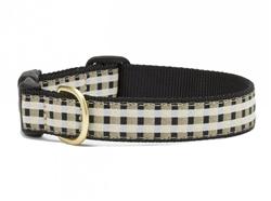 Black Gilt Check Dog Collar Collection