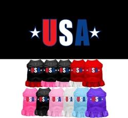 USA Star Screen Print Dress