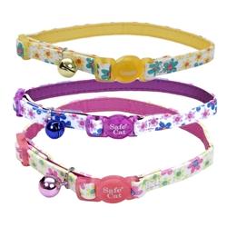 Flower Frenzy Safe Cat® Designer Adjustable Breakaway Collar