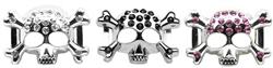 """3/4"""" (18mm) Slider Skull Charm"""